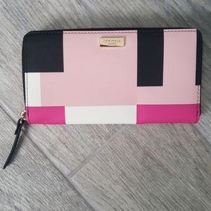 Kate Spade MultiColor Block Zip Around Wallet